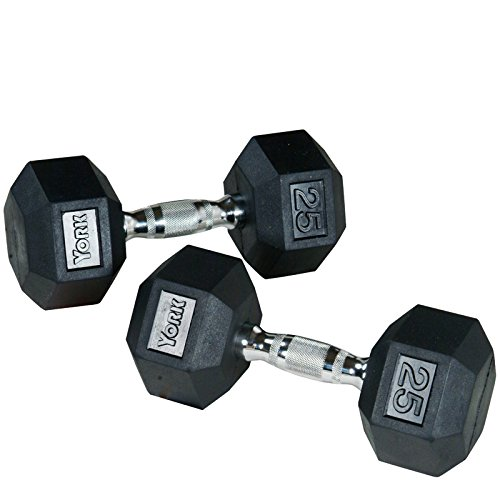 York Chrome Dumbbell Set 15kg: York Dumbbells - Knurled Chrome