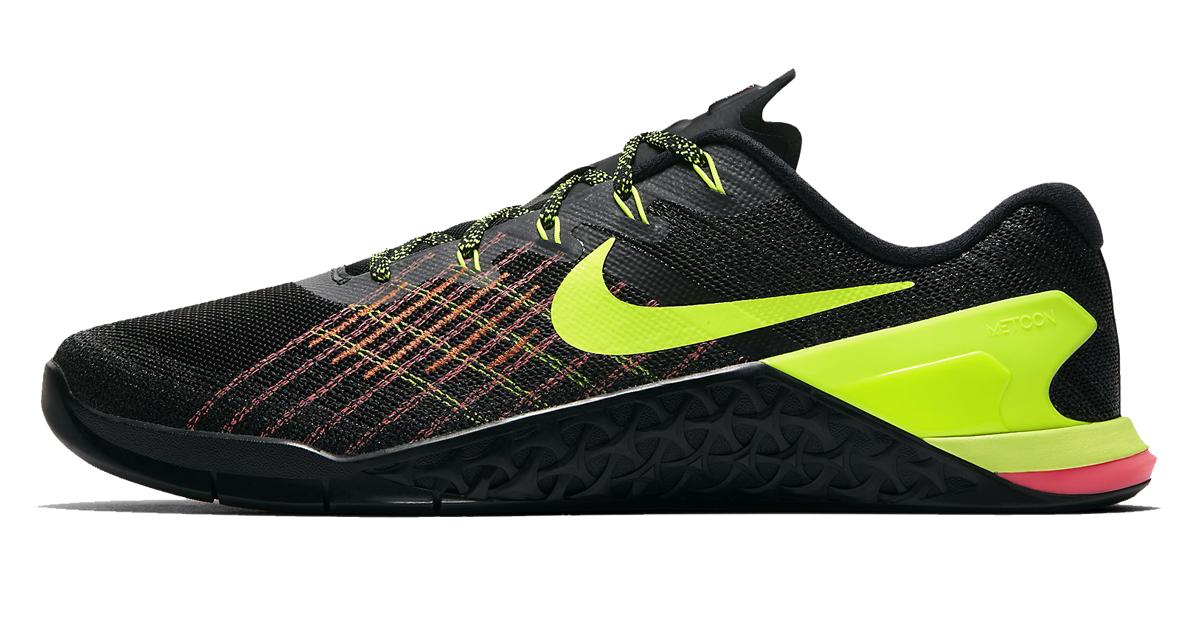 sports shoes 6b3c8 5ceca Metcon 3 de Nike - Hombre - Negro  Lima Volt  Hyper  Carmes   Hot Punch   Rogue Europe