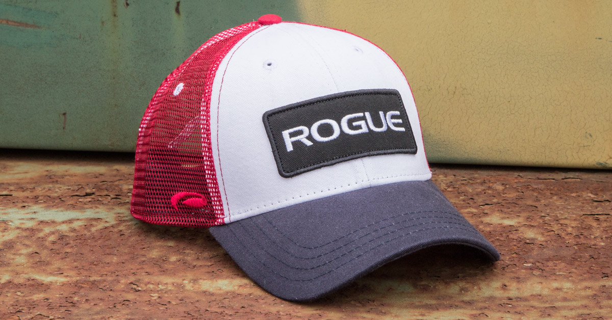 Rogue Patch Trucker Hat - Logo Cap - Red 5ab2f754e1b