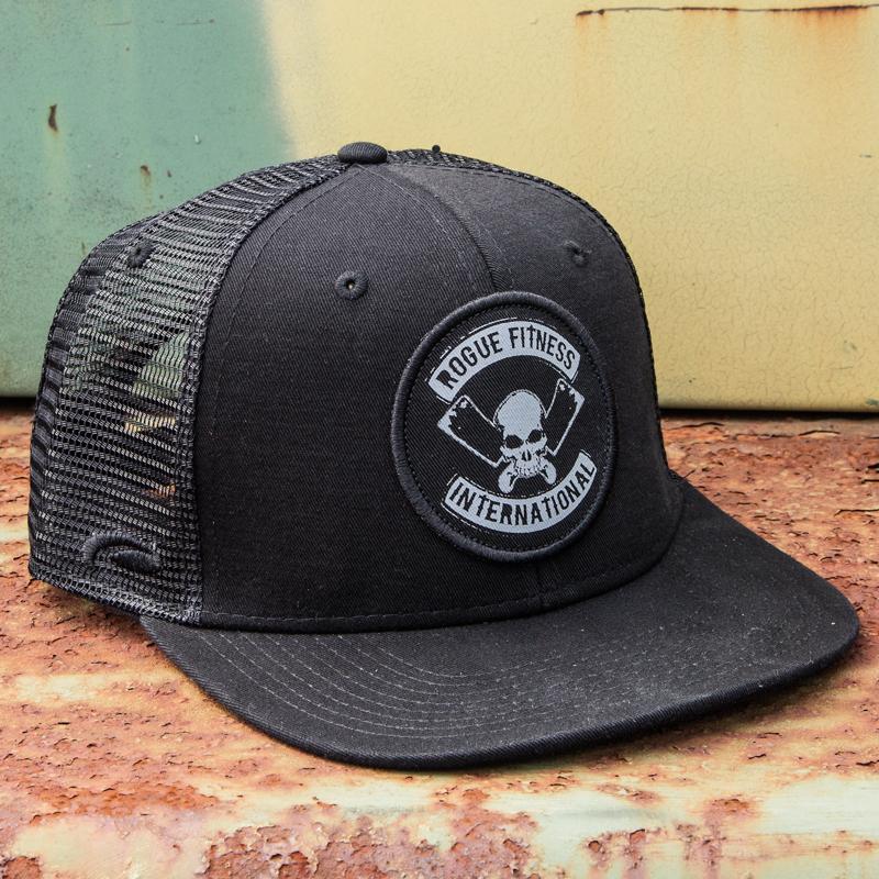 78f6d738f4379 International Flat Bill Hat - Trucker Hat - Black
