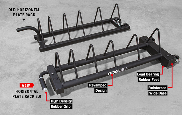 Rogue horizontal plate rack bumper storage