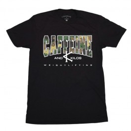 Caffeine & Kilos Camo Weightlifting Shirt