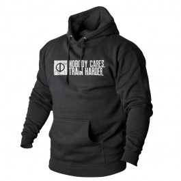 "Hoodie ""Nobody Cares. Train Harder"""