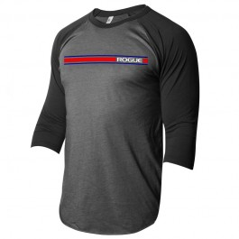 Rogue Lines 3/4 Sleeve - Heather Black / Black