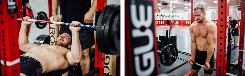 US Olympic Gold Medalist Kyle Snyder using the 28.5mm Rogue Freedom Barbell